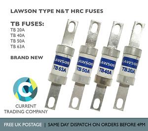 LAWSON TB 20A 40A 50A 63A TYPE N&T HRC FUSES 415V AC 80kA
