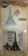 TIM HOLTZ Alterations Stamps Embossing Folder & Die Set PARIS ADVENTURE Sizzix