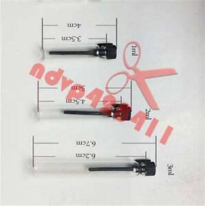 50 1ml 2ml 3ml black/white cap EMPTY SMALL GLASS PERFUME SAMPLE VIAL BOTTLE New