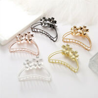 Fashion Women Hollow Metal Flower Hair Clips Large Size Bathing Disk Hair Claws