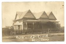 OLNEY TX TEXAS Dr Harrell Residence Antique RPPC Postcard Vtg Real Photo PC