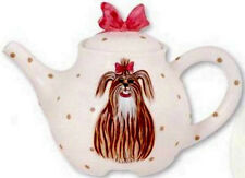 CASHMERE THE YORKIE/YORKSHIRE TERRIER TEAPOT- S.W.A.K-RETIRED-SALE-NORMALLY $49.