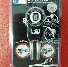 MLB Detroit Tigers Golf Divot Tool Pack with 3 Ball Markers