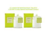 Glasshouse Montego Bay Coconut Lime Triple Scented Candle 350gx2 *Free Post