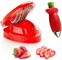 Strawberry Slicer Set Fruit Cutters Stem Remove Kitchen Gadgets Dicing Tools