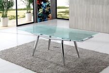 Alaska Extending Glass Dining Table