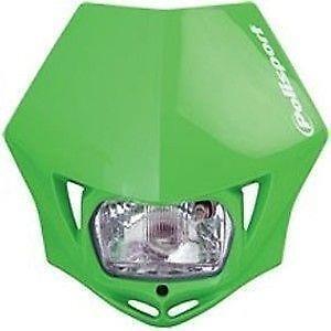 Polisport MMX Universal Road Legal Headlight Enduro Kawasaki Green KX KXF KLX