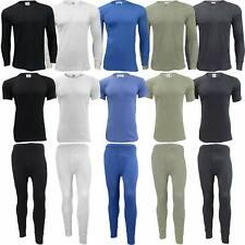 Mens Thermal Long Johns Top Bottom Underwear Trouser TShirt Set Full Half Sleeve