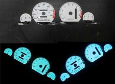 94-01 Acura Integra AT Automatic LS RS GS White Face Glow Gauges 8K Blue & Green