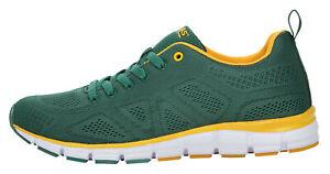 Boras Fashion Sports Unisex Sneaker auch in Übergrößen Basic green/yellow