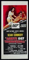 Cartel Agente 007 Thunderball Operación Tuono Sean Connery James Bond N58