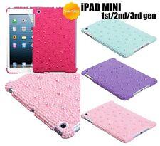 For Apple iPad Mini 1 / 2 / 3 GEN -DIAMOND PEARL RHINESTONE HARD SKIN CASE COVER
