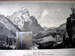ZEITSCHRIFT DT.u. ÖSTERR. ALPENVEREIN 1878, Halbleder + Beilagen SUPER + SELTEN