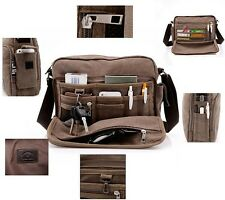 Men's Shoulder Canvas Bag Schoolbag Messager Bags Travel Hiking Bag Work Bag