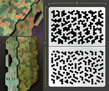 HEX CAMO SELF ADHESIVE AIRBRUSH STENCIL FOR WARGAMING FALLOUT HOBBIES PDT