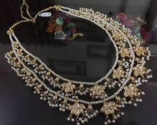 Indian Kundan Ethnic White Pearl Bollywood Women Latest Necklace Jewlery Set