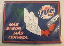 Miller Lite Rubber Bar Mat Mas Cerveza Mexico