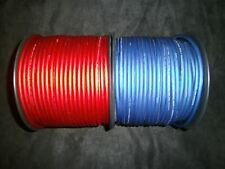 8 GAUGE SPEAKER WIRE 10 FT RED BLUE SUPERFLEX FLEX CABLE AWG MONSTER SUBS