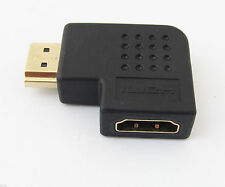 1pc 19pin HDMI Male to Female M/F Right Angle 90D Gold Plated Adapter Converter