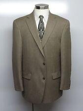 HART SCHAFFNER MARX Sport Coat 44R BeigeHoundstooth 100% Wool CURRENT MODEL $295