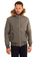 RRP €270 REFRIGUE BomberJacket Size L Detachable Raccoon Fur Trim Hooded