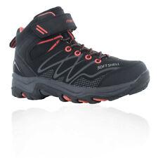 Hi-Tec Boys Blackout Mid Waterproof Walking Shoes Black Sports Outdoors