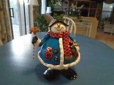 Fat Rolly Polly Metal Snowman for Christmas Decor So Cute!