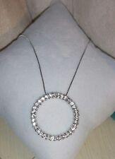 John c Rinker JCR 14k white gold topaz circle of life Pendant Necklace $950
