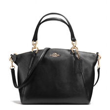 New Coach F26917 Small Kelsey Satchel In Pebble Leather Black Gold NWT