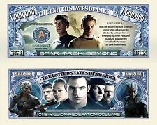 STAR TREK BEYOND, 2 SPOCK BILLS & 50TH ANV. 5 BILL SET WITH BILL HOLDERS! NEW!!