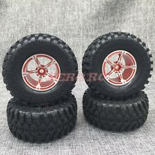 RC AXIAL WRAITH Wheel Rims 2.2 ROCK CRAWLER BEADLOCK Wheels + Tires SET (4)