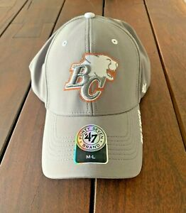 47 Brand BC Lions Contender Hat! Fitted Flex Fit All Sizes S M L XL Black CFL