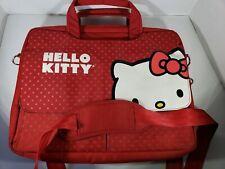Hello Kitty Padded Laptop Bag W/Strap School Side Messenger Pack Bag
