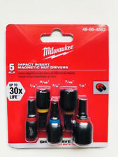 Milwaukee 49-66-4563  SHOCKWAVE Insert Nut Driver Set (5 PC)