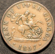 #330# 1857 UPPER CANADA DRAGONSLAYER HALFPENNY TOKEN - Breton 720