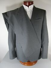 CANALI Made in Italy Dapper Stripe Gray Wool Single Breasted Flat Front Suit 42