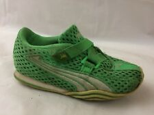 Puma 18124419 Boys 9 Toddler Running Shoes Green Yellow Mesh Sneakers Trainers