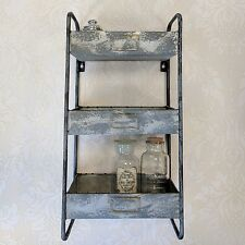 Industrial Style Metal Wall Shelves Storage Rack Vintage Shelf Unit Rustic Chic