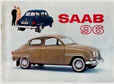 Saab 96 2-Stroke Saloon 1963-64 UK & USA Markets Sales Brochure