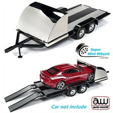 Auto World 1:18 Car Trailer (Black/Chrome)
