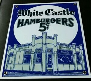White Castle hamburgers fast food restaurant sign