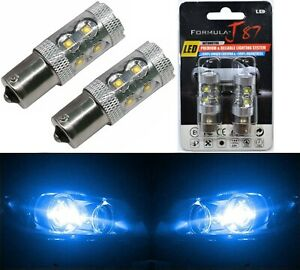 LED Light 50W 1156 Blue 10000K Two Bulbs Back Up Reverse Replace Show JDM Style