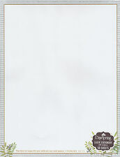 Christian Stationery w/ Bible Scripture Verse, Letterhead Computer Printer Paper