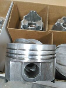 327 CHEVY FORGED PISTONS P5511 4.030 BORE MANLEY 12.5 TO 1 W/ 64CC USED