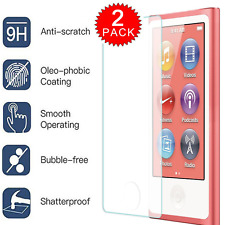 [2-PACK] Tempered Glass Screen Protector Film for Apple iPod Nano 7th & 8th Gen