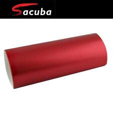 152cm x 20m Red Matt Satin Chrome Car Vinyl Wrap Air Bubble Free Sticker