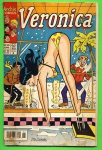 VERONICA #28 1993 RISQUE GGA BIKINI COVER Newsstand Edition ARCHIE COMICS