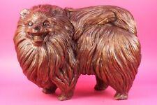 Pomeranian dog - a Extra Large statuette of bronze, metal figurine sculpture Art
