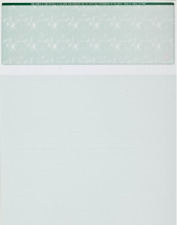 Blank Check Paper Stock - Computer Check On Top MARBLE GREEN Count 2500