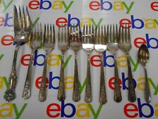 WM Rogers- Silverware Lot of 10 pcs.- 8 Forks-1 Baby/Sugar spoon- 1 Serving Fork